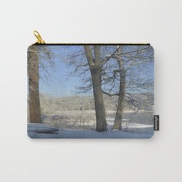 December Snow Delaware River View Carry-All Pouch