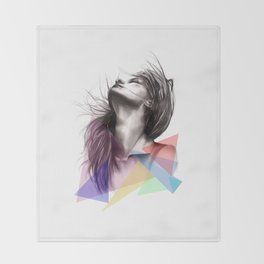 Crystalised // Fashion Illustration  Throw Blanket