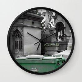 """Le recyclage (Cimetiere du Pere Lachaise, Paris) """"A SAFE PLACE"""" series Wall Clock"""