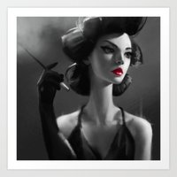 NOIR MOOD Art Print
