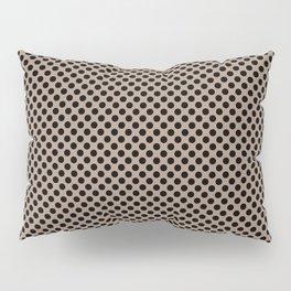 Warm Taupe and Black Polka Dots Pillow Sham