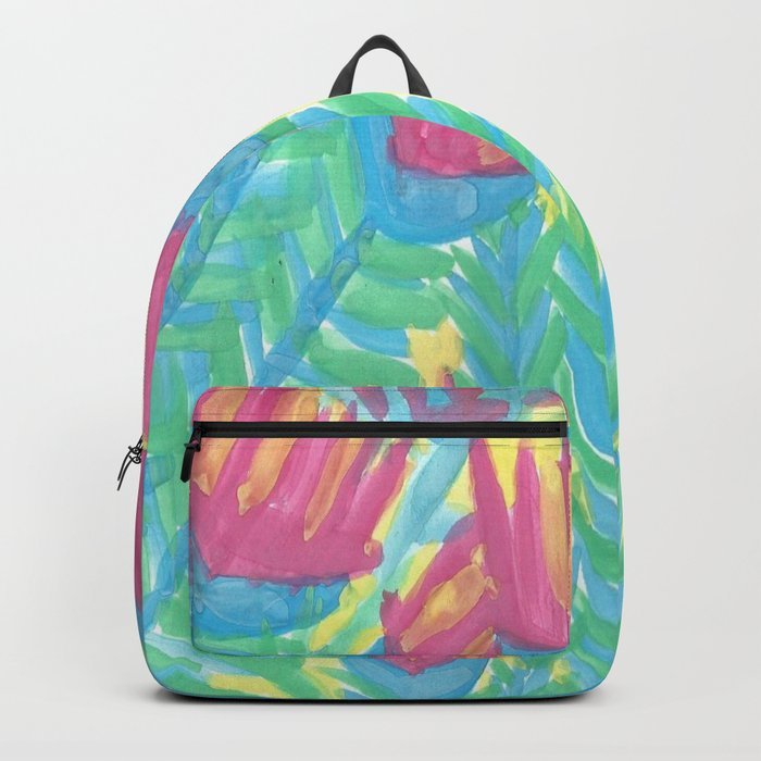 Lotus Garden Abstract Backpack