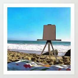 Paint On The Beach Art Print