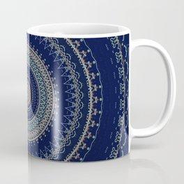 Dark Indigo Detailed Boho Mandala Coffee Mug