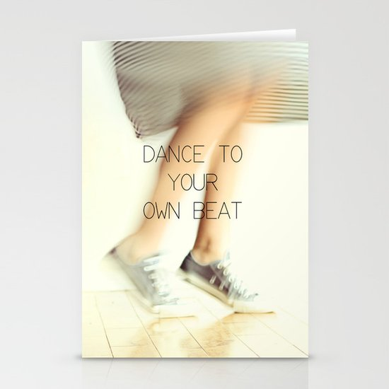 Dance to your own beat Stationery Cards