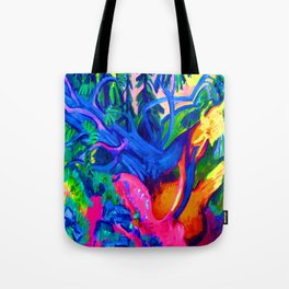 Ernst Ludwig Kirchner Uprooted Tree Tote Bag