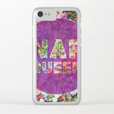 Nap Queen in Purple Clear iPhone Case