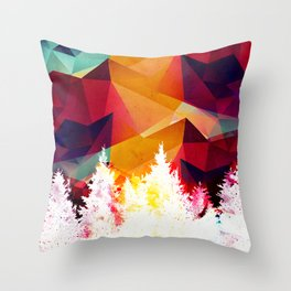 Forest made of color Throw Pillow