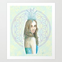 Her Invisible Crown Art Print