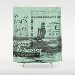 Good Hooks (mint) Shower Curtain