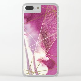 PURPLE PINK FRAGMENTAL Clear iPhone Case