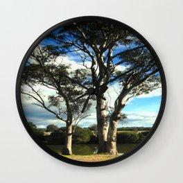 White Gum Trees Wall Clock