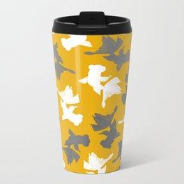 Goldfish Pattern Metal Travel Mug