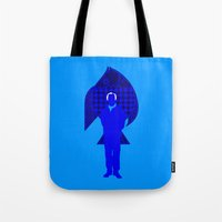 karl Tote Bags featuring Karl Stromberg by Vector Vectoria