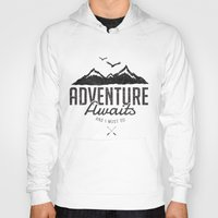 Hoodies featuring ADVENTURE AWAITS by magdam