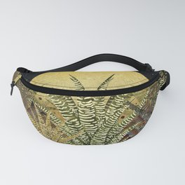 """Golden aloe Zebra midnight sun"" Fanny Pack"