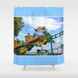 Chinese Dragon ride  5 Shower Curtain