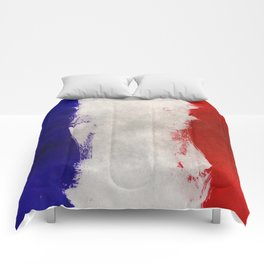 Watercolor flag of France Comforters