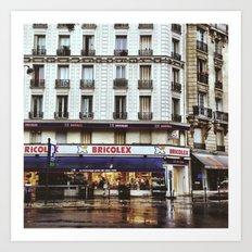 Rain in Paris Art Print
