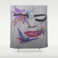splatter Shower Curtains featuring Splatter. by TheArtOfFaithAsylum