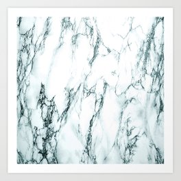 Green Marble Look Art Print