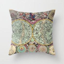 Celestial Map 1730b Throw Pillow