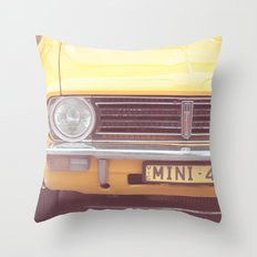 Yellow Mini Throw Pillow