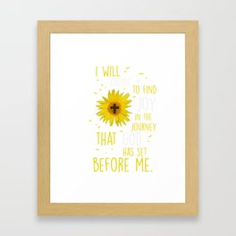 I Will Choose To Find Joy T Gift Framed Art Print