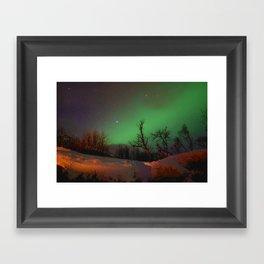 Norway lights 1 Framed Art Print
