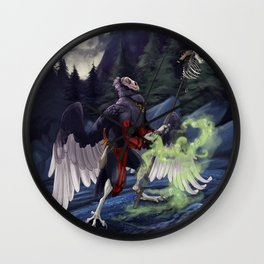 Vulture Necromancer Wall Clock