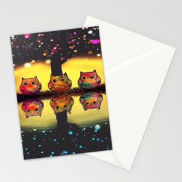 owl new colour 126 Stationery Cards