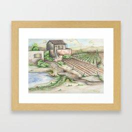 Italian Wine Country Framed Art Print