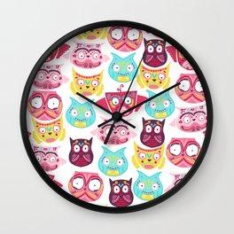 Ornate Owls Wall Clock