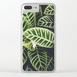 Jungle Botanicals Clear iPhone Case