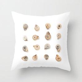 Snail Shells Throw Pillow