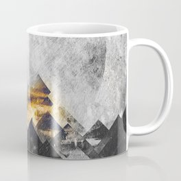 One mountain at a time - Black and white Coffee Mug