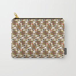 Hearts Queen and Jack of Spades Carry-All Pouch
