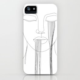 """""""Unique"""" Minimal Printable Face Drawing iPhone Case"""
