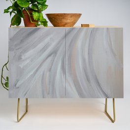 Abstract Morning Fog Credenza