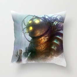 Mr Bubbles strolling  Throw Pillow