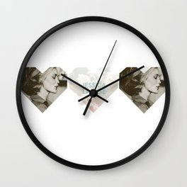 Jessica Lange Heart Wall Clock