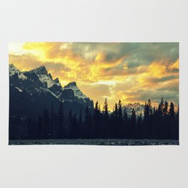 Sunset Over The Rockies Rug