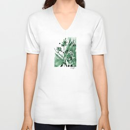 Organic Impressions No. 103 by Kathy Morton Stanion Unisex V-Neck