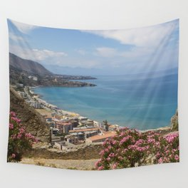 Cefalu view from La Roca Wall Tapestry