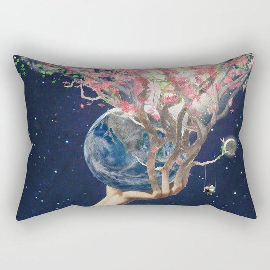 Love Makes The Earth Bloom Rectangular Pillow