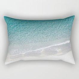 Drone Beach Rectangular Pillow