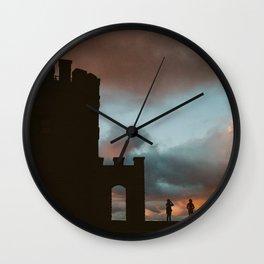 O'Brien's Tower at Sunset Wall Clock