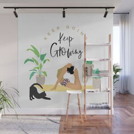 Keep Growing - Yoga Girl Power Wall Mural