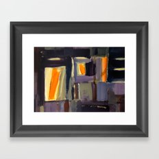 Purple and orange Framed Art Print