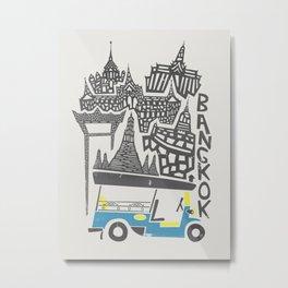 Bangkok Cityscape Metal Print